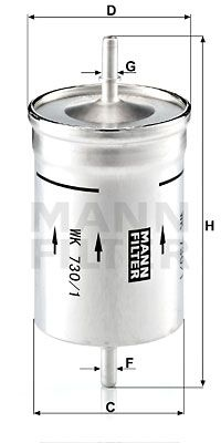 WK 730/1 MANN-FILTER mit 35% Rabatt!
