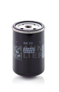 MANN-FILTER  WK 731 Kraftstofffilter Höhe: 117mm