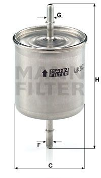 Article № WK 822/2 MANN-FILTER prices