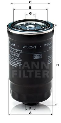 Article № WK 824/1 MANN-FILTER prices
