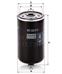 Article № WK 824/3 MANN-FILTER prices