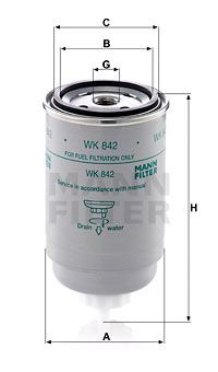 WK 842 MANN-FILTER from manufacturer up to - 28% off!