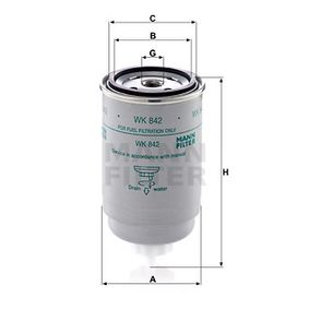 WK 842 MANN-FILTER from manufacturer up to - 27% off!