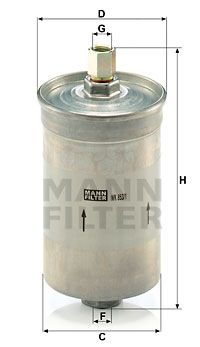 MANN-FILTER  WK 853/1 Filtro carburante Alt.: 172mm