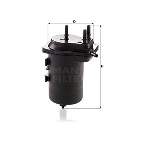 Fuel filter Height: 184mm with OEM Number 8200458337