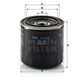 WP 1026 MANN-FILTER from manufacturer up to - 26% off!
