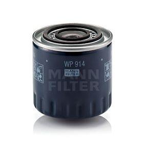 Pulseur d'Air et Composants RENAULT SAFRANE II (B54_) 2.2 dT (B54G) de Année 07.1996 113 CH: Filtre à huile (WP 914) pour des MANN-FILTER