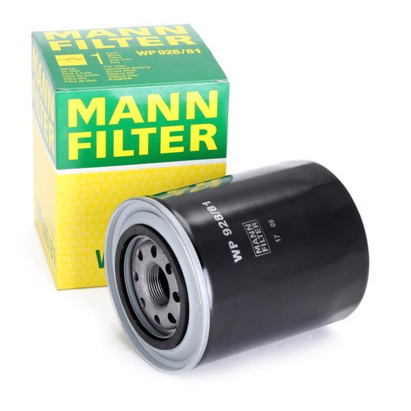 Filtro de aceite de motor MANN-FILTER WP 928/81 4011558959104