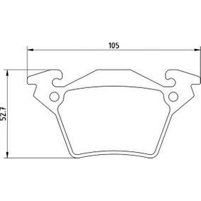 Bremsbelagsatz, Scheibenbremse Höhe 1: 52,7mm, Dicke/Stärke 1: 17,9mm mit OEM-Nummer A00 042 14210