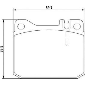 Bremsbelagsatz, Scheibenbremse Höhe 1: 73,8mm, Dicke/Stärke 1: 18,5mm mit OEM-Nummer 0014209920