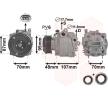 VAN WEZEL *** IR PLUS *** Compresor de aire acondicionado CHEVROLET PAG 46, Frigor.: R 1234yf, R 134 a, con accesorios