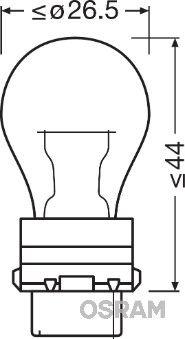Glühlampe, Blinkleuchte 3757AK OSRAM PY277W in Original Qualität