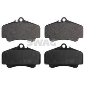 Bremsbelagsatz, Scheibenbremse Breite: 89,0mm, Dicke/Stärke 1: 16,8mm mit OEM-Nummer 996 351 949 12