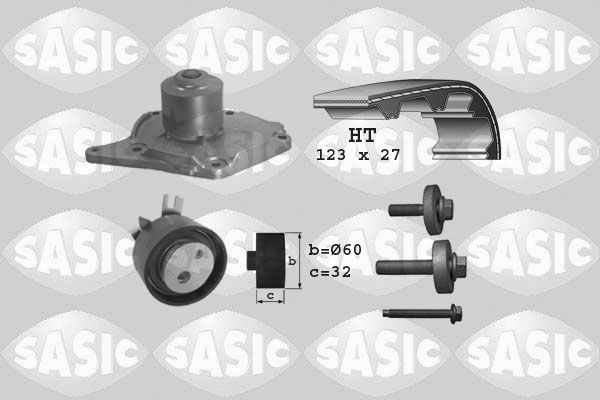 SASIC  3904003 Water pump and timing belt kit