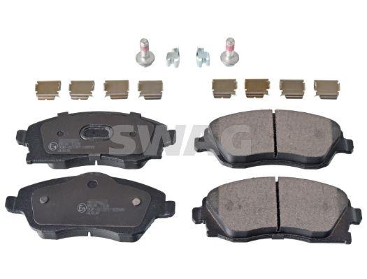 SWAG  40 91 6748 Bremsbelagsatz, Scheibenbremse Breite: 52,8, 55,4mm, Dicke/Stärke 1: 16mm