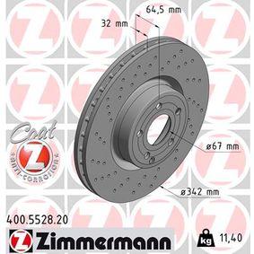 Bremsscheibe Bremsscheibendicke: 32mm, Felge: 5-loch, Ø: 342mm mit OEM-Nummer A 231 421 1112