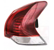 Rear lights VAN WEZEL 9704844 Right, with lamp base, Outer section, LED