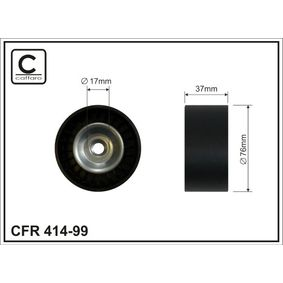 Tensioner Pulley, v-ribbed belt Width: 37mm with OEM Number 31170RAAA02