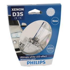 Glühlampe, Fernscheinwerfer D3S (Gasentladungslampe), 35W, 42V 42403WHV2S1