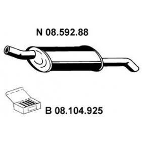 Endschalldämpfer Länge: 860mm mit OEM-Nummer 852931