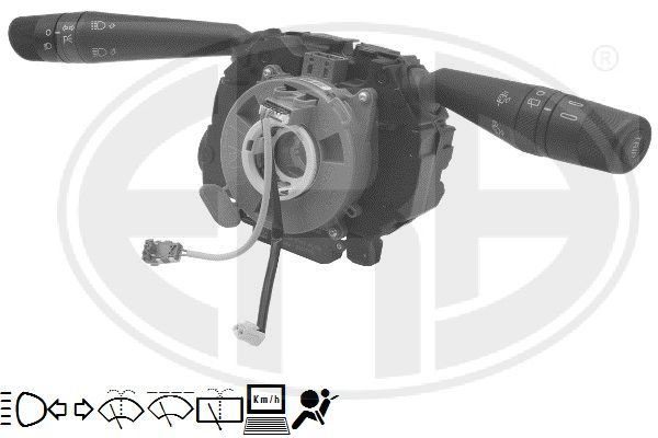 ERA  440668 Steering Column Switch Number of connectors: 28, with board computer function, with high beam function, with indicator function, with rear wipe-wash function, with wipe interval function, with wipe-wash function