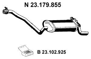 EBERSPÄCHER  23.179.855 Endschalldämpfer Länge: 1270mm, Länge: 1270mm