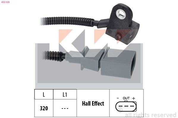 KW  453 535 Sensor, posición arbol de levas Long. cable: 320mm