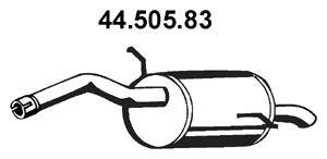 EBERSPÄCHER  44.505.83 Endschalldämpfer Länge: 860mm, Länge: 860mm