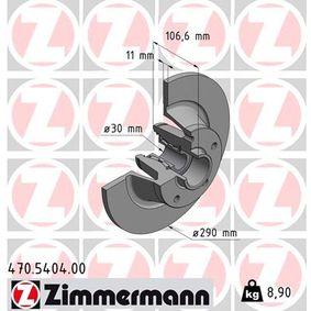 Bremsscheibe 470.5404.00 MEGANE 3 Coupe (DZ0/1) 2.0 R.S. Bj 2016