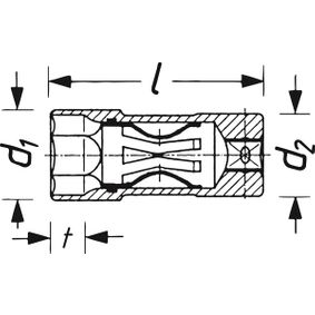 HAZET  4766-2 Bougiesleutel