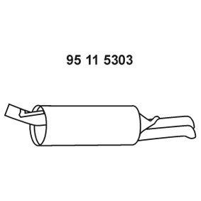 EBERSPÄCHER Endschalldämpfer 95 11 5303 für AUDI A6 (4B2, C5) 2.4 ab Baujahr 07.1998, 136 PS