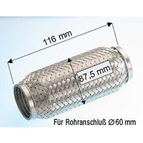 EBERSPÄCHER  99.008.79 Flexrohr, Abgasanlage Länge: 116mm, Innendurchmesser: 60mm