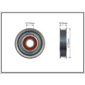 Deflection / Guide Pulley, v-ribbed belt Ø: 72mm with OEM Number 38942-P01-003
