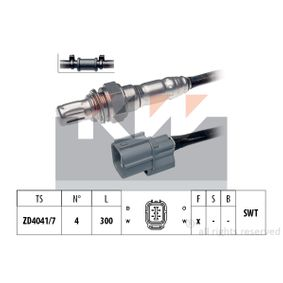 Lambdasonde Kabellänge: 300mm mit OEM-Nummer 36531-RLC-J01