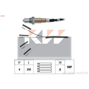 Lambdasonde Kabellänge: 250mm, 540mm, 690mm, 915mm mit OEM-Nummer 955.606.136.30