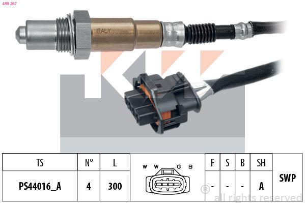 KW  498 267 Lambdasonde Kabellänge: 300mm