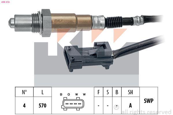 KW  498 318 Lambdasonde Kabellänge: 570mm