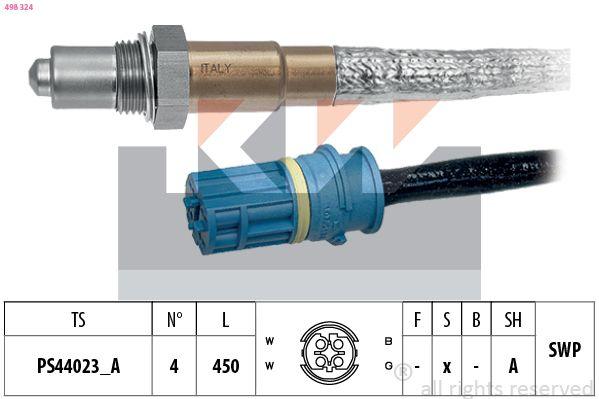 KW  498 324 Lambdasonde Kabellänge: 450mm