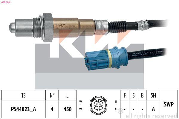 KW  498 326 Lambdasonde Kabellänge: 450mm