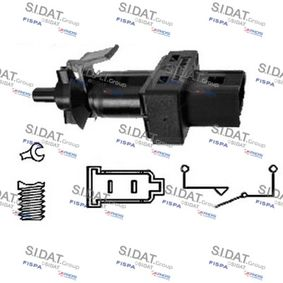 Brake Light Switch Number of Poles: 2-pin connector with OEM Number 004 545 2114