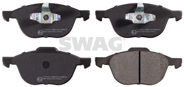 SWAG  50 91 6479 Bremsbelagsatz, Scheibenbremse Breite: 62,5, 67,2mm, Dicke/Stärke 1: 17,8mm