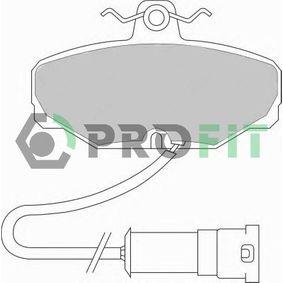 Bremsbelagsatz, Scheibenbremse Höhe: 54mm, Dicke/Stärke: 13,5mm mit OEM-Nummer 6185119