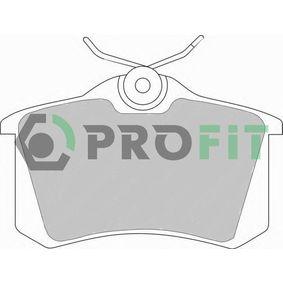 PROFIT Jogo de pastilhas para travão de disco 5000-0541 com códigos OEM 1H0698451