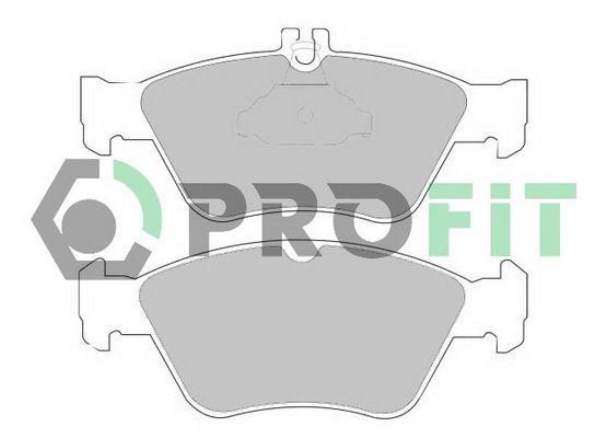 PROFIT  5000-1049 Bremsbelagsatz, Scheibenbremse Höhe 1: 60mm, Höhe 2: 66,2mm, Dicke/Stärke: 19mm