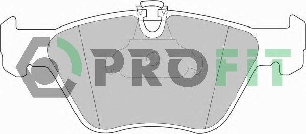 PROFIT  5000-1073 Bremsbelagsatz, Scheibenbremse Höhe: 63,5mm, Dicke/Stärke: 19,5mm