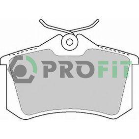 PROFIT Bromsbeläggssats, skivbroms 5000-1083 med OEM Koder 1J0698451F