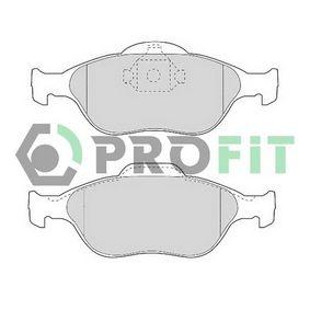 2006 Ford Fiesta Mk5 1.4 TDCi Brake Pad Set, disc brake 5000-1394