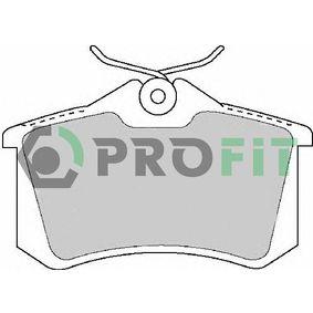 PROFIT Bromsbeläggssats, skivbroms 5000-1491 med OEM Koder 7701206784