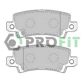 Bremsbelagsatz, Scheibenbremse Höhe: 37,9mm, Dicke/Stärke: 16,2mm mit OEM-Nummer 44660-2020