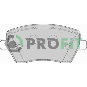 Nissan Micra K12 1.5dCi Bremsbeläge PROFIT 5000-1617 (1.5dCi Diesel 2008 K9K 704)